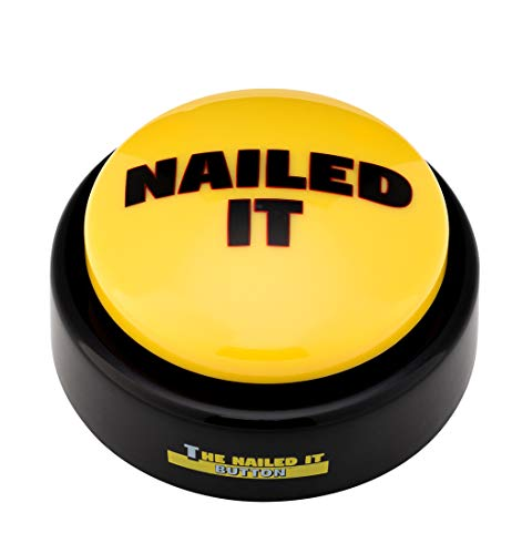 Funny buttons The Official Nailed it Button Toy |Large & Loud |Portable Hype Man -