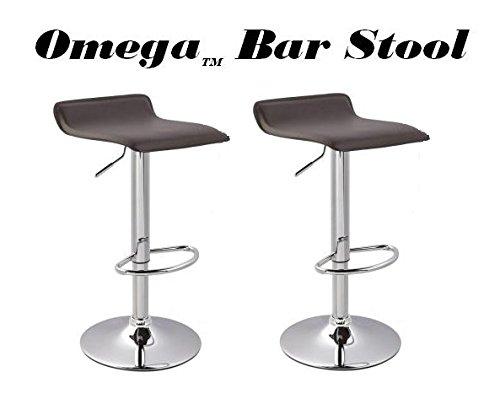 Omega Contemporary Bar Stool - Brown (Set of 2)