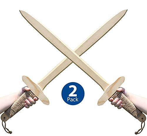 Adventure Awaits - Wooden Toy Sword - Handmade - Lightweight Wood Toy Sword set for Outdoor Play