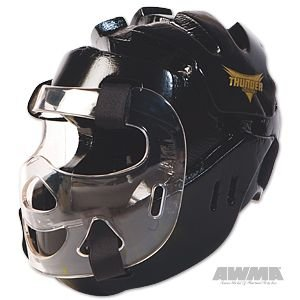 Pro Force Thunder Full Headgear w/Face Shield - Black - Large