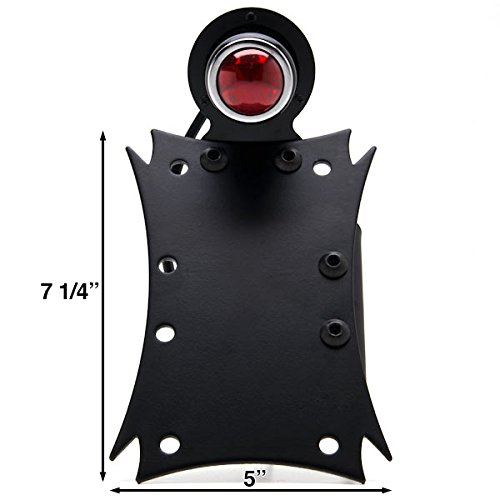 Krator Axle Vertical//Horizontal Plate Holder Tail Light For Harley Davidson Dyna Glide Fat Bob Street Bob