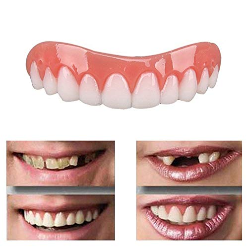 False Tooth Whitening teeth stickers silicone simulation teeth whitening dentures Braces Upper tooth cover
