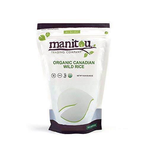 Organic Candian Wild Rice, 6 / 15.25 Oz Ziplock Case by Manitou Trading Company