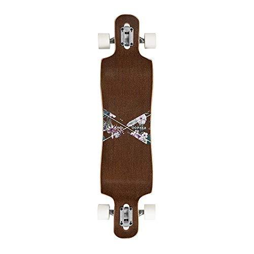 Grand Gopher Floral Wood Skate Board Cruiser Longboard by Hamboards (Image #2)