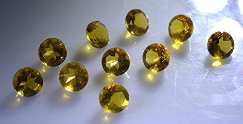 pierres précieuses en vrac de Citrin 1 pièces 7 x 7 mm rondes pierres précieuses facettes jaune