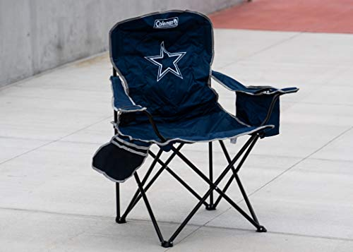 Superb Coleman Nfl Cooler Quad Folding Tailgating Camping Chair Lamtechconsult Wood Chair Design Ideas Lamtechconsultcom