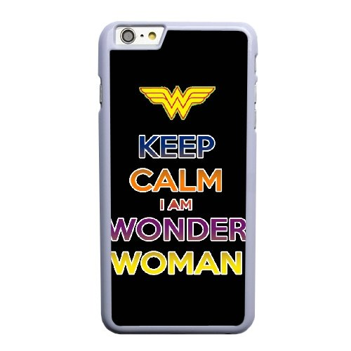 Coque,Apple Coque iphone 6 6S plus (5.5 pouce) Case Coque, Generic Keep Calm-I Am Wonder Woman Cover Case Cover for Coque iphone 6 6S plus (5.5 pouce) blanc Hard Plastic Phone Case Cover