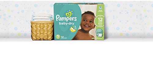 Large Product Image of Pampers Baby-Dry Disposable Diapers Size 5, 152 Count, ONE MONTH SUPPLY