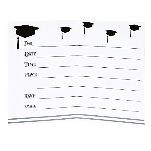 Classic Graduation Invitations, 8ct by Unique (Image #2)