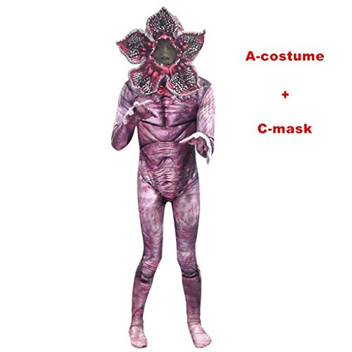 Demogorgon Halloween Costume for Kids Man-Eater Flower Scary Fortress Cosplay Carnival Party Creepy Clothes ()