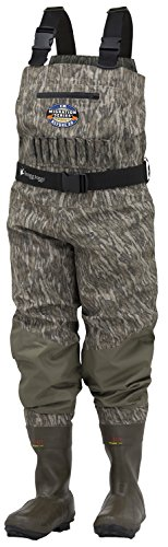 Frogg Toggs Grand Refuge 2.0 Breathable & Insulated Bootfoot Chest Wader, Cleated Outsole, Youth, Mossy Oak Bottomlands, Size 4