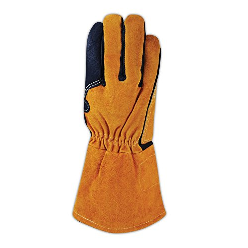 Magid Glove & Safety T8800-M Magid WeldPro T8800 Pig Grain MIG Welding Gloves, Black , Medium (Pack of 12) by Magid Glove & Safety (Image #2)