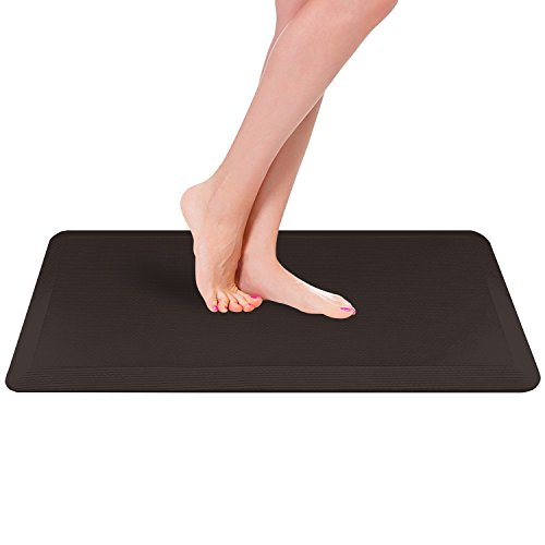 Royal Anti-Fatigue Comfort Mat - 20 in x 39 in x 3/4 in - Ergonomic Multi Surface, Non-Slip - Waterproof All-Purpose Luxurious Comfort - For Kitchen, Bathroom or Workstations - Brown by Royal