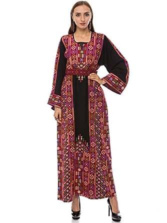 Hannah Embroidery Multi Color Festive Jalabiya For Women