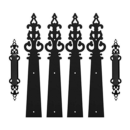 CCJH Decorative Carriage House Garage Handle Hinge Accent Set Door Hardware Kit Braided - Set Decorative Accent