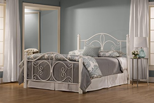 Hillsdale Ruby Twin Poster Bed in Textured White