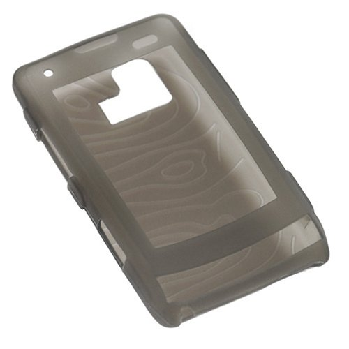 Durable Flexible Soft Smoke Silicone Skin Case for Verizon LG Dare VX-9700 Cell Phone (9700 Silicone)