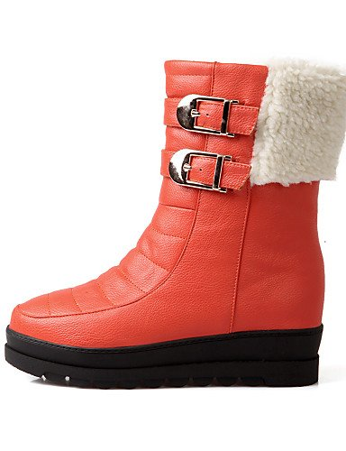 Cn39 De Plataforma Cn38 Eu38 Orange La Punta 5 Uk6 Casual Nieve Uk5 A Botas Eu39 Semicuero Redonda Mujer us7 Orange Zapatos Xzz us8 5 Vestido Moda 5qxtwU
