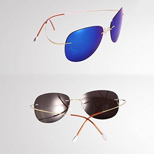 blue Gold polarizados conducción blue unisex hyun vidrios ultra sol Gafas 90 Silver de ligeras sin del titanio Color de marco HONEY de q17ZPRxnUP