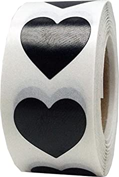 Ologramma Scintillante dArgento Cuore Adesivi 500 Etichette su Rotolo 19 mm 3//4 Pollici di Larghezza