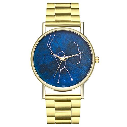 Constellation Ladies Quartz Small Watch - Ladies watch, USHOT Women Fashion Constellation Design Steel Band Quartz Wrist Watch