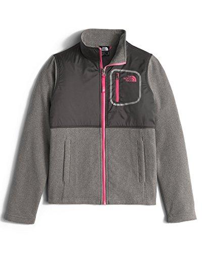 The North Face Glacier Track Jacket Girls' TNF Medium Grey Heather/Cabaret Pink Small