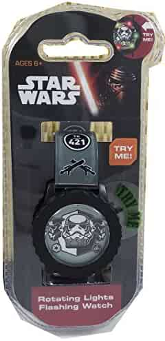 Star Wars Kids' Stormtrooper Digital Watch with Rotating Lights (STM3485)