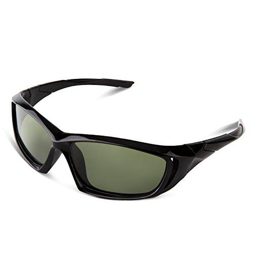 [RIVBOS RBK005 Rubber Flexible Kids Polarized Sunglasses Age 3-10 (Black New)] (Prescription Novelty Contact Lenses)