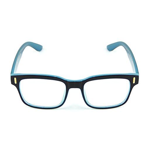 Cyxus Blue Light Filter Computer Glasses for Blocking UV Headache [Anti Eye Eyestrain] Transparent Lens Gaming Glasses, Unisex (Men/Women) (2019 upgrade Blue Black)
