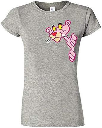 La Pantera Rosa Camiseta de Caricatura de Caricatura Camiseta de Moda de las Mujeres de la Camiseta