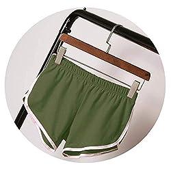 New Summer Shorts Women Casual Shorts Workout Waistband Skinny Short Green Xxl