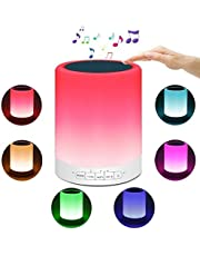 HJD Night Light Bluetooth Speakers, New Portable Table Lamp Color LED Outdoor Speaker Light Music Player Touch Control Bedside Lamp
