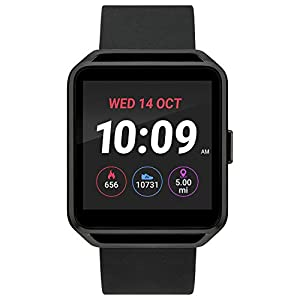 iConnect By Timex Classic Square Touchscreen Smartwatch with Heart Rate, Notifications and Two-Way Bluetooth Calling