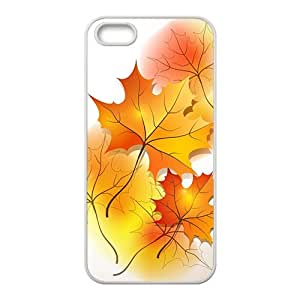Maple leaf and Autumn Hight Quality Plastic Case for Iphone 5s