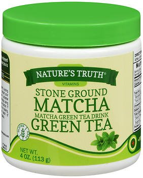 Nature's Truth Stone Ground Matcha Green Tea Drink - 4 oz, Pack of 5