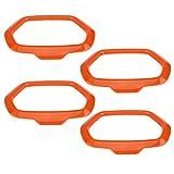 Qiilu 4Pcs Car Interior Door Sound Speaker Orange Covers Ring Decoration Trim for Jeep Renegade