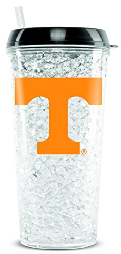 (Duck House NCAA Tennessee Volunteers 16oz Crystal Freezer Tumbler with Lid and Straw)