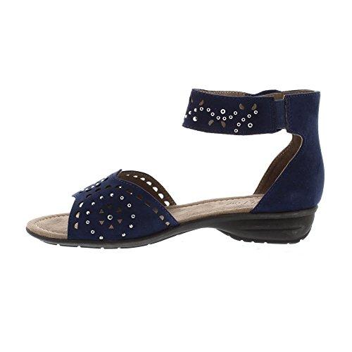Softline 28162, Sandalia con Pulsera Para Mujer Azul (Navy)