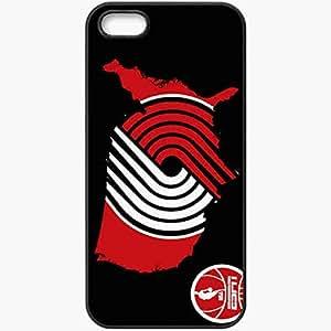 Personalized iPhone 5 5S Cell phone Case/Cover Skin Nba usa portland trail blazers by devildog dbai Black