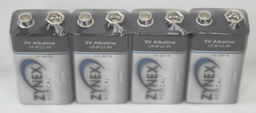 Zynex 9V Alkaline Battery Pack Of 4