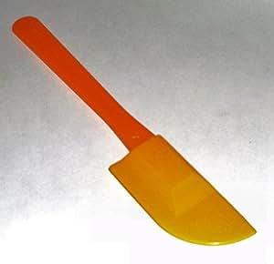 Tupperware Mini Spatula Scraper Spreader Orange Yellow
