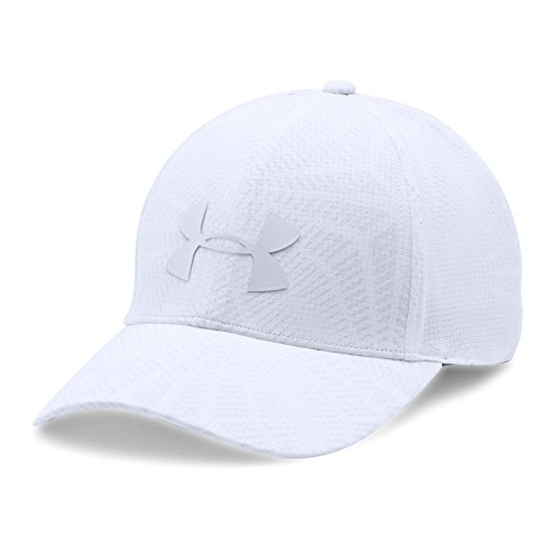 Under Armour Men's Driver 2.0 Golf Cap, White (100)/Steel, One Size