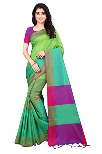 Dhruvi Trendz Soft Cotton & Silk Saree For Women Half Sarees Under 349 2019 Beautiful For Women saree free size with blouse piece