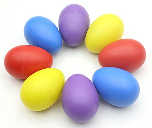Small Maracas (WINGONEER Plastic Percussion Musical Egg Maracas Egg Shakers four colors 8pcs)