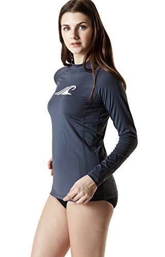 TM-FSR24-CHC_Medium Tesla Women's UPF 50+ Regular-Fit Long Sleeve Athletic Rashguard FSR24