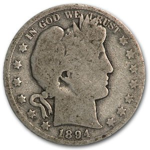 1894 Barber Half Dollar AG Half Dollar About Good