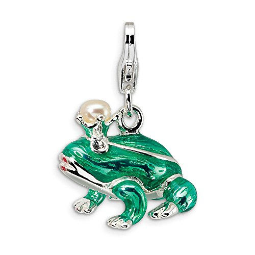 (Sterling Silver FW Cult Pearl Frog Prince w/Lobster)