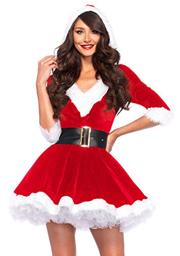 Leg Avenue Women's 2 Piece Mrs. Claus Costume, Red/White,Medium/Large