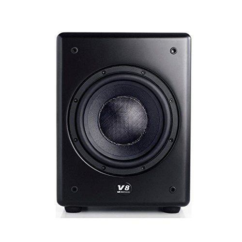 M&K Sound V8 Series Single 8-inch Forward Facing Active Subwofer (Black) by MK Sound