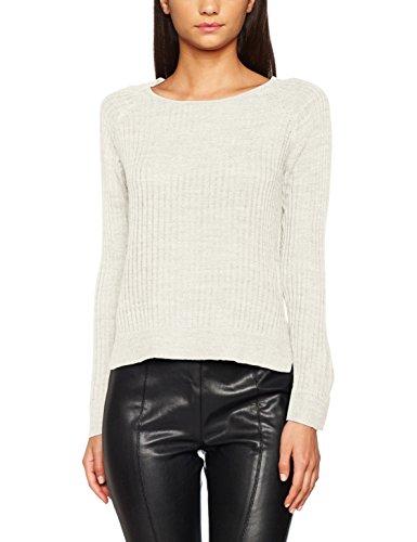 Only Onlrose Rib L/S Pullover Knt Noos, Suéter para Mujer Blanco (Cloud Dancer Cloud Dancer)